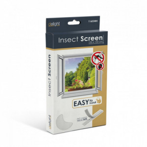 Plasa anti insecte pentru ferestre 150x150 alb, anti muste,anti tantari