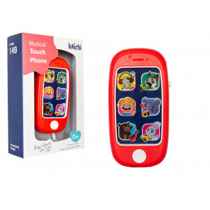 Telefon de jucarie interactiv pentru bebelusi | Kaichi Musical Touch Phone