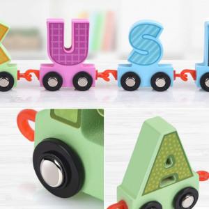 trenulet lemn alfabet