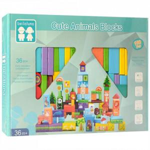 set constructie beilaluna cute animal blocks