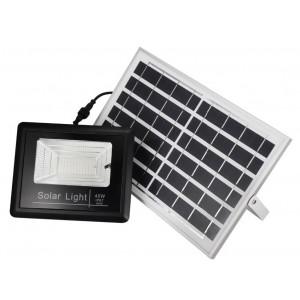 Proiector Led exterior 40W cu panou solar, senzor de miscare si telecomanda IP67