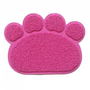 Covor pentru animale de companie antiderapant de culoare roz