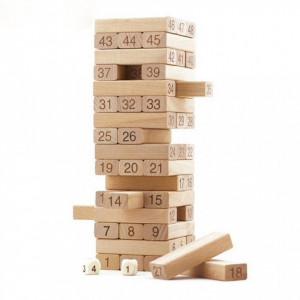 Joc de societate Turnul instabil- 54 pcs Blocks | Jenga