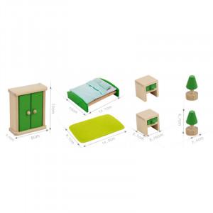 Mobilier din lemn pentru casuta papusilor   Master Bedroom