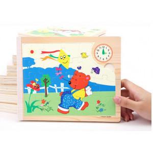Carte puzzle din lemn-Wisdom Garden