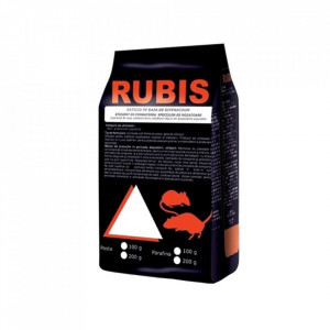 Otrava raticid pasta pentru soareci si sobolani Rubis 200g