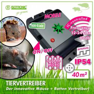 Aparat impotriva soarecilor si sobolanilor Isotronic Mouse & Rat Free Mobile