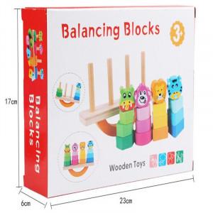 joc educativ din lemn sortare si echilibru