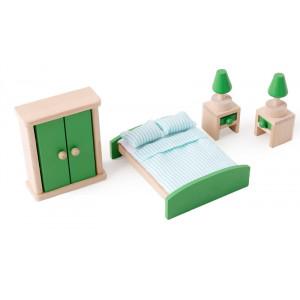 Mobilier din lemn pentru casuta papusilor | Master Bedroom