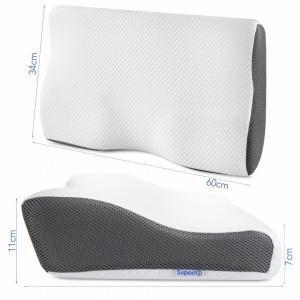 Set 2x Perna anatomica cu suport cervical si spuma de memorie-PDCA000