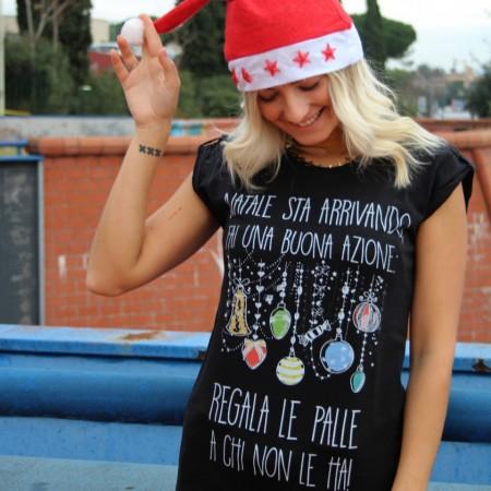 """Maglia Donna """"Natale sta arrivando..."""""""