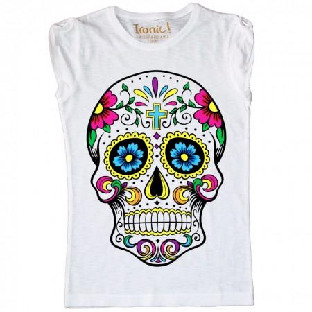 "Maglia Donna ""Skull Mexican floreal"""