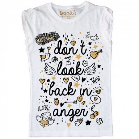 "Maglia Bambina ""Don't look back in anger"" immagini"