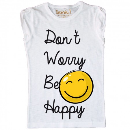 Maglia Bambina Don't worry be Happy