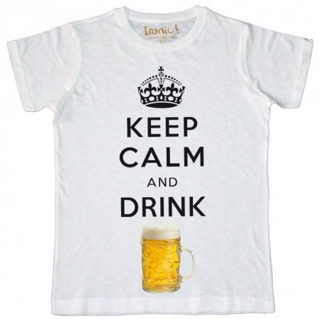 Maglia Uomo Keep Calm drink Beer
