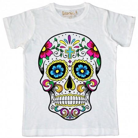 "Maglia Uomo ""Skull Tattoo Mexican Floreal"""