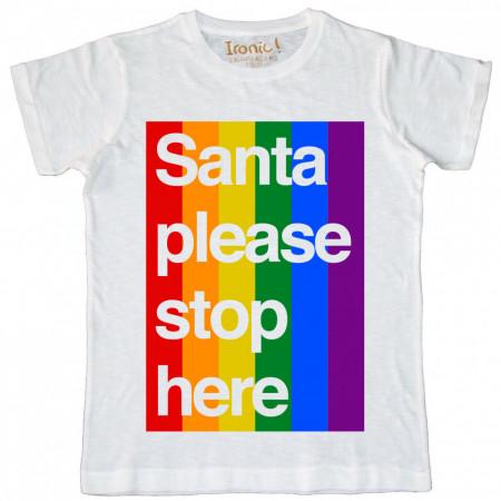 """Maglia Uomo """"Santa Please Stop here"""""""