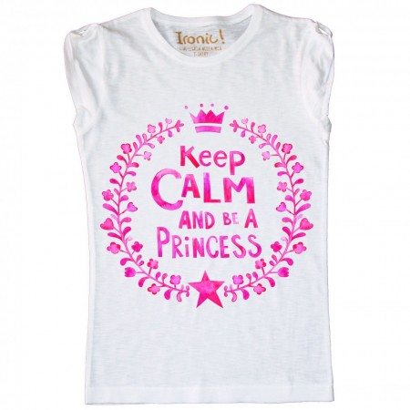 Maglia Bambina Keep Calm be a Princess