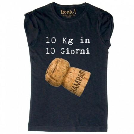 """Maglia Donna """"10 Kg in 10 giorni"""""""