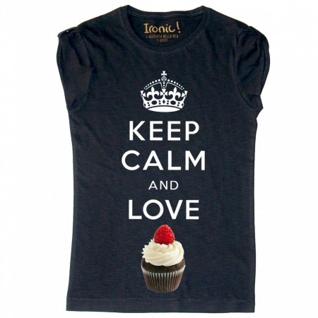 Maglia Donna Keep Calm and Love Cupcake