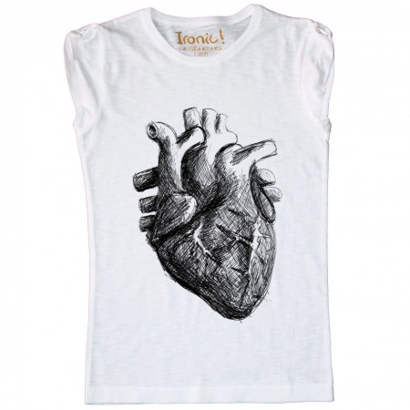 Maglia Donna Heart Black and White