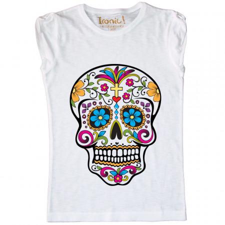 """T-Shirt Bambina """"Skull Tattoo Mexican"""""""