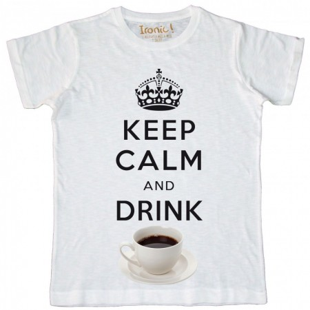 Maglia Uomo Keep Calm and drink Coffee