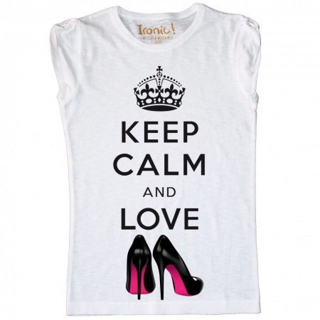 Maglia Bambina Keep Calm and Love Shoes