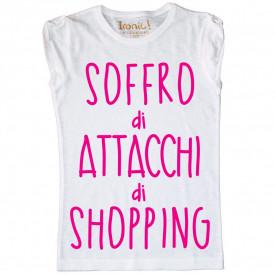 """Maglia Donna """"Soffro di attacchi di Shopping"""""""
