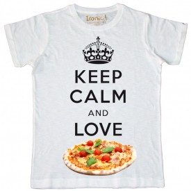 Maglia Uomo Keep Calm and Love Pizza