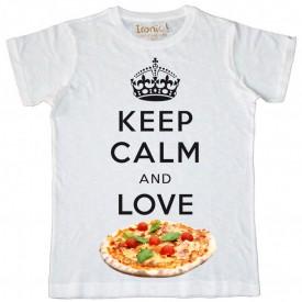 Maglia Uomo Keep Calm and Love Pizza
