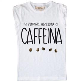 """Maglia Donna """"Caffeina"""""""