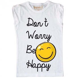 Maglia Bambina Don't worry be Happy