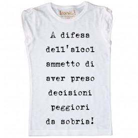 """Maglia Donna """"A difesa dell'alcol..."""""""