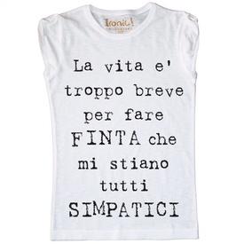"""Maglia Donna """"Simpatici..."""""""