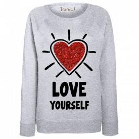 "Felpa Donna ""Love Yourself"""