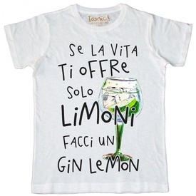 """Maglia Uomo """"Facci un Gin Lemon..."""""""