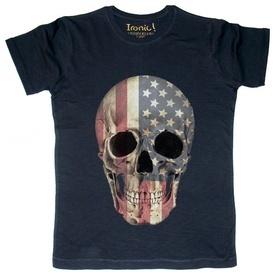 Maglia Uomo Tattoo Skull America