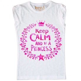 Maglia Bambina Keep Calm be a Princess