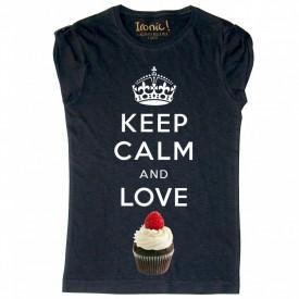 Maglia Donna Keep Calm and Love Cupcake