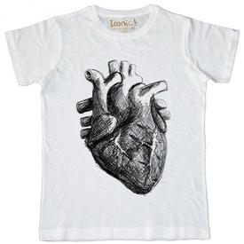 Maglia Uomo Heart Black and White