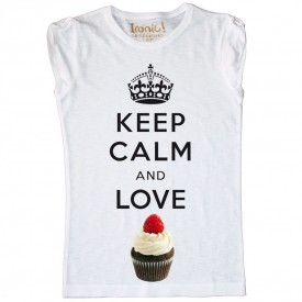 Maglia Bambina Keep Calm and Love Cupcake