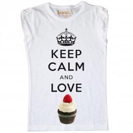 Maglia Bambina Keep Calm and Love Cupcake