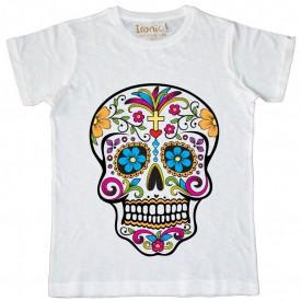 Maglia Bambino Skull Tattoo Mexican