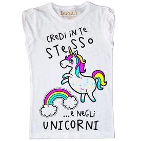 """Maglia Donna """"Credi in te stesso...e negli Unicorni"""""""