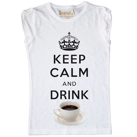 Maglia Donna Keep Calm and Drink Coffee