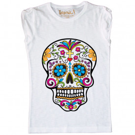 "T-Shirt Bambina ""Skull Tattoo Mexican"""