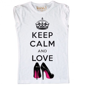Maglia Donna Keep Calm and Love Shoes