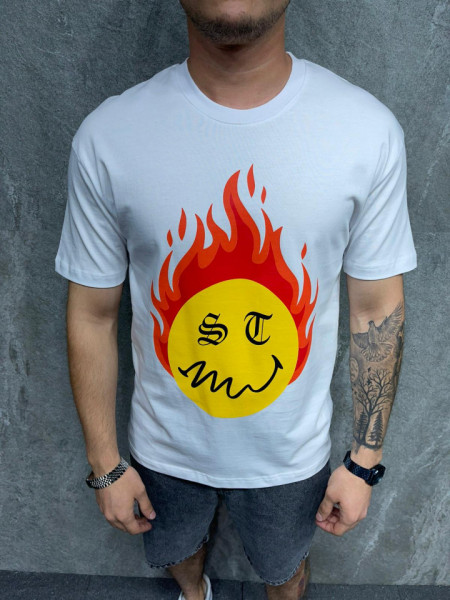 TRICOU FLAME WHITE TSAS264(1016)