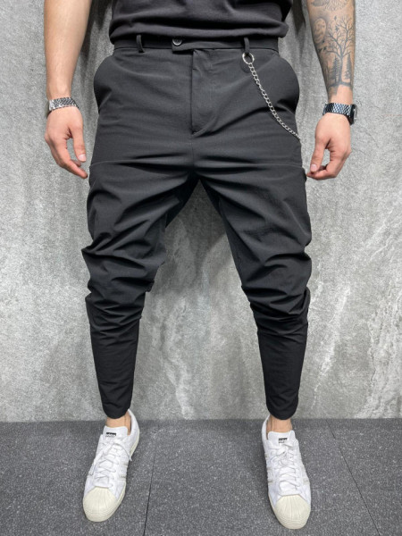 PANTALONI SLIM FIT BLACK BGAS645(2020)